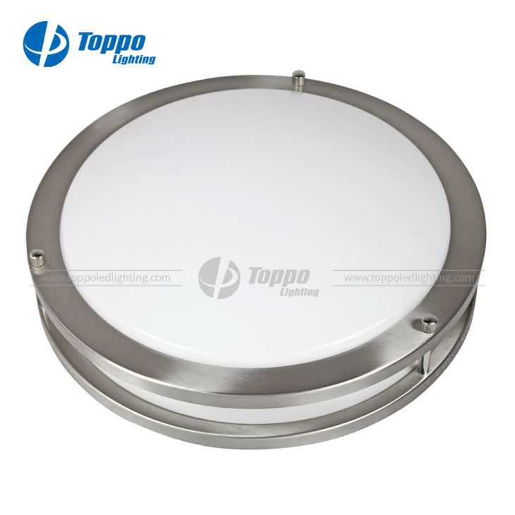 Toppo Metal Ring Series Micro-wave Sensor LED Flush Mount Ceiling Lights with 100lm/w